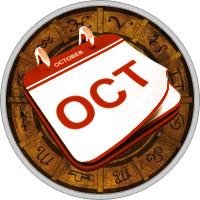 Календарь на Октябрь 2019 Года