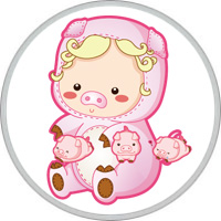 Schwein Kind