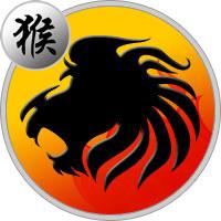 Löwe Affe Frau