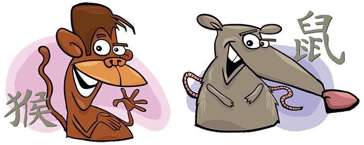 Affe und Ratte Partner Horoskop