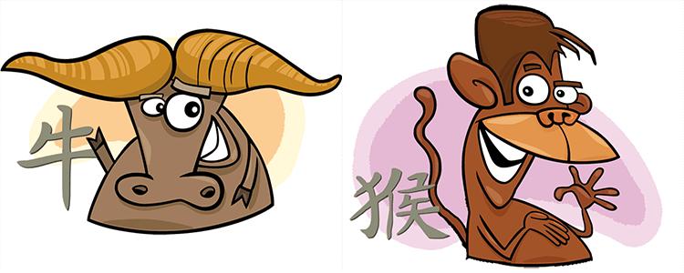 Büffel und Affe Partner Horoskop