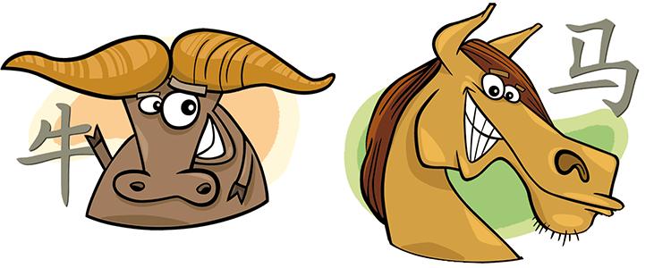 Büffel und Pferd Partner Horoskop