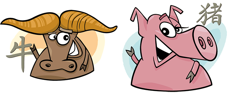 Büffel und Schwein Partner Horoskop