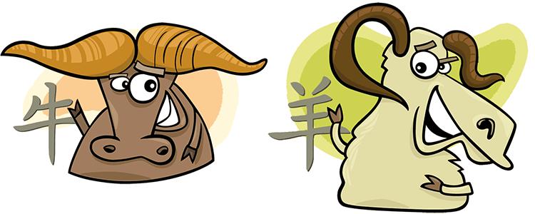 Büffel und Ziege Partner Horoskop