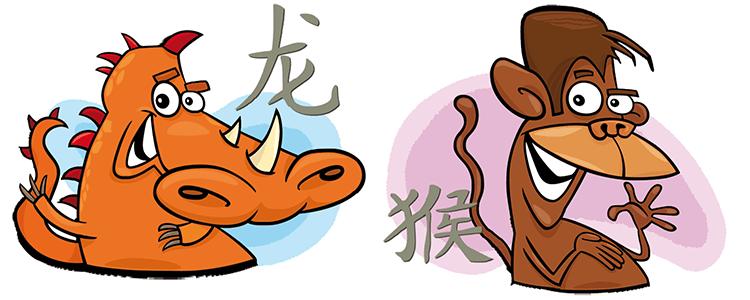 Drache und Affe Partner Horoskop