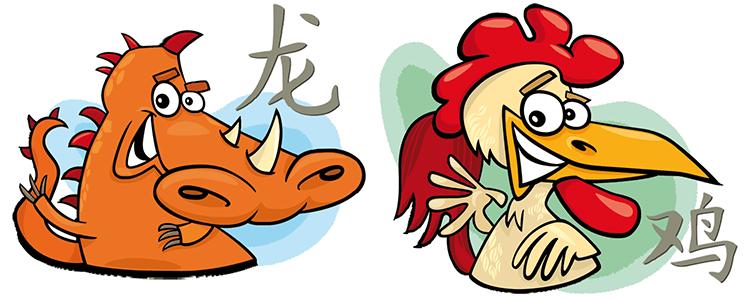 Drache und Hahn Partner Horoskop