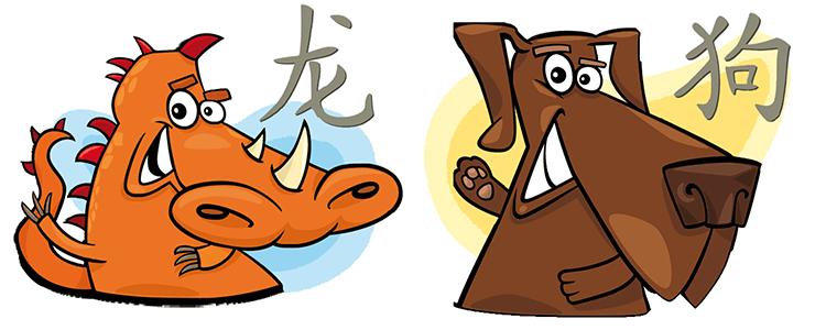 Drache und Hund Partner Horoskop