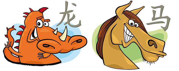 Drache und Pferd Partner Horoskop