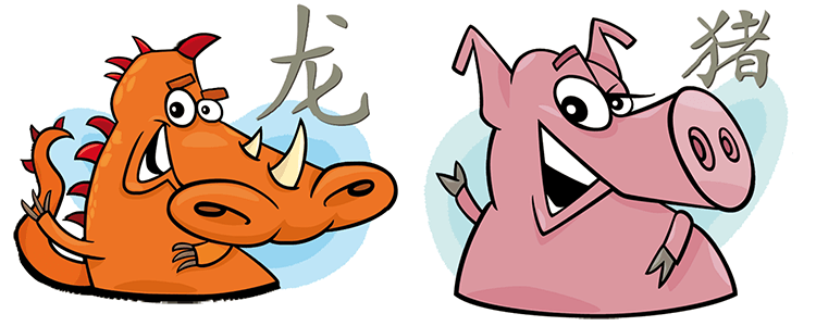 Drache und Schwein Partner Horoskop
