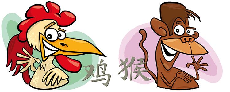 Hahn und Affe Partner Horoskop