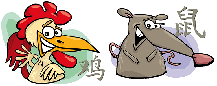 Hahn und Ratte Partner Horoskop