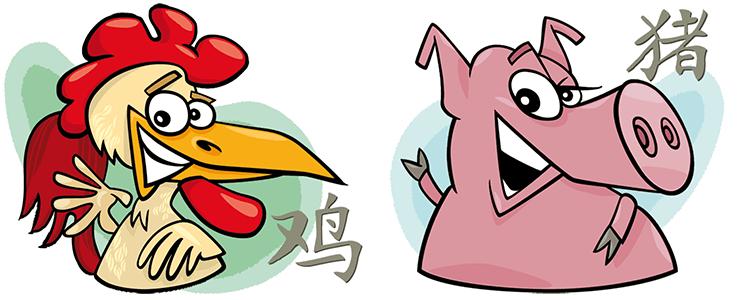 Hahn und Schwein Partner Horoskop
