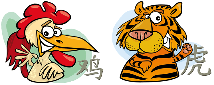 Hahn und Tiger Partner Horoskop