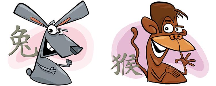 Hase und Affe Partner Horoskop