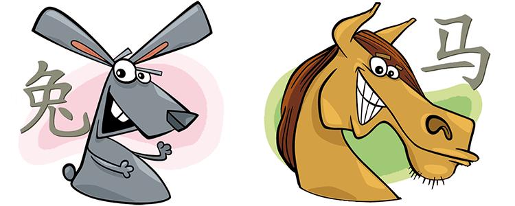 Hase und Pferd Partner Horoskop