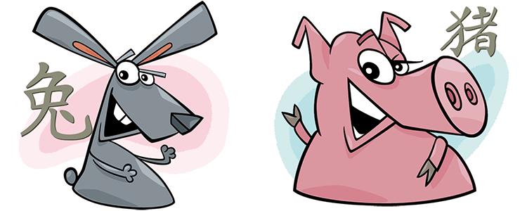 Hase und Schwein Partner Horoskop