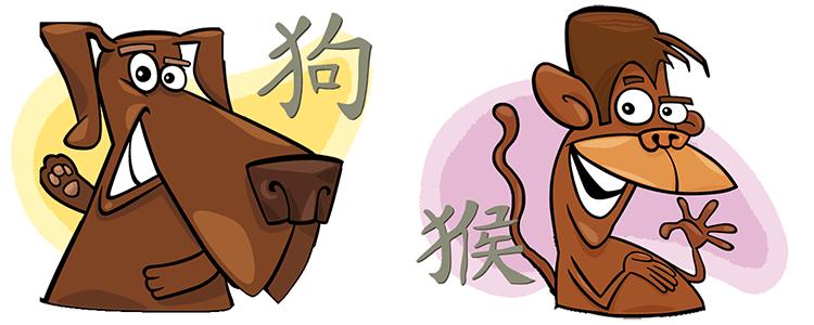 Hund und Affe Partner Horoskop