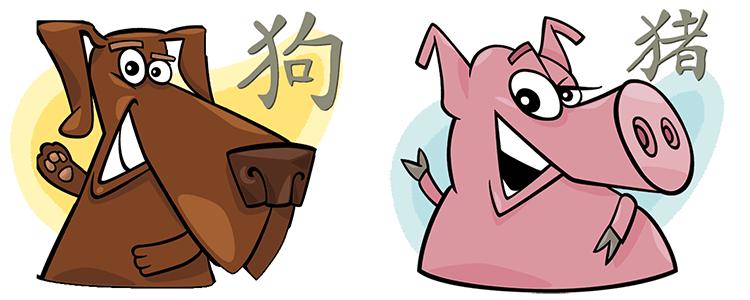 Hund und Schwein Partner Horoskop