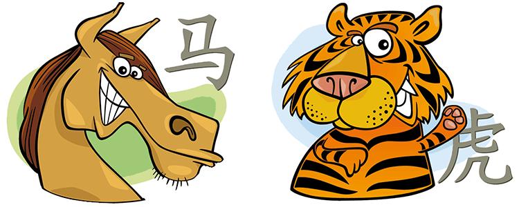 Pferd und Tiger Partner Horoskop