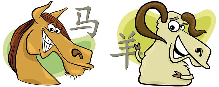 Pferd und Ziege Partner Horoskop