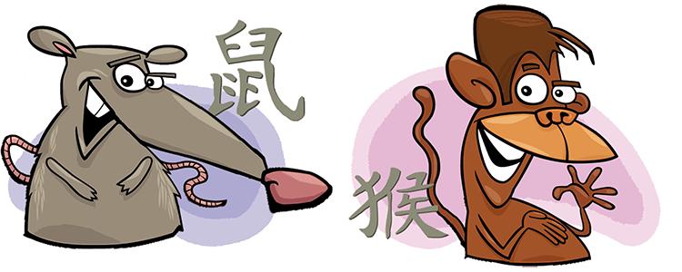 Ratte und Affe Partner Horoskop