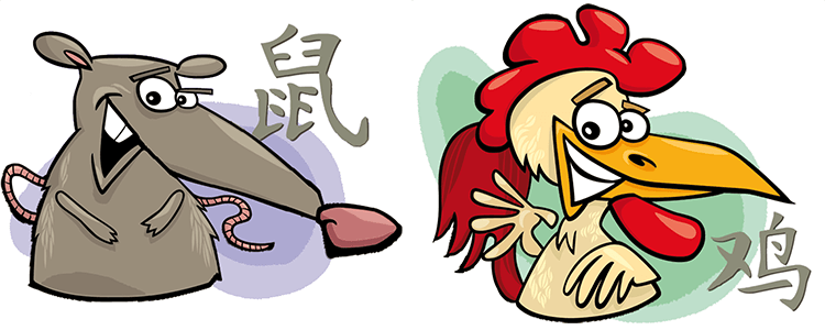 Ratte und Hahn Partner Horoskop