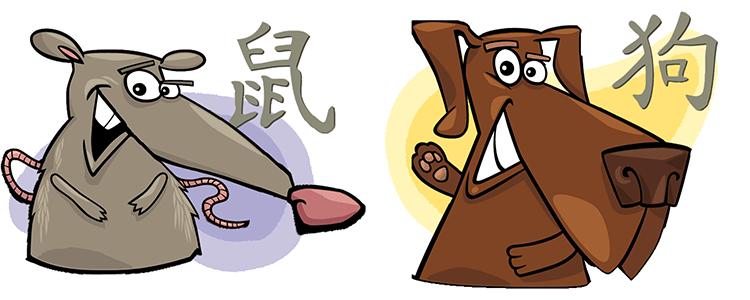 Ratte und Hund Partner Horoskop