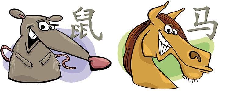 Ratte und Pferd Partner Horoskop