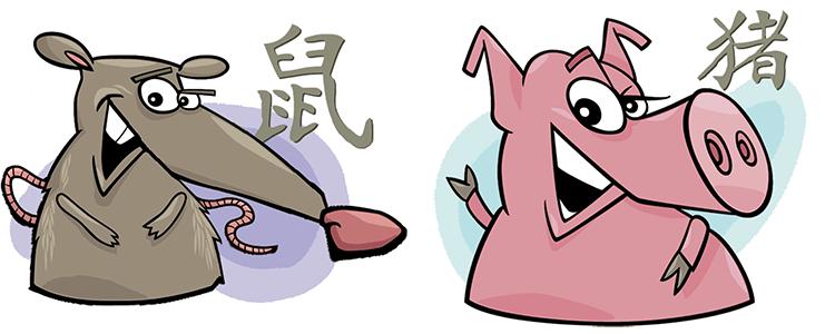 Ratte und Schwein Partner Horoskop