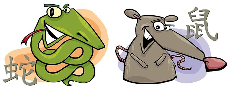 Schlange und Ratte Partner Horoskop