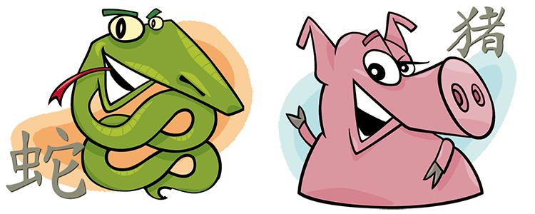 Schlange und Schwein Partner Horoskop