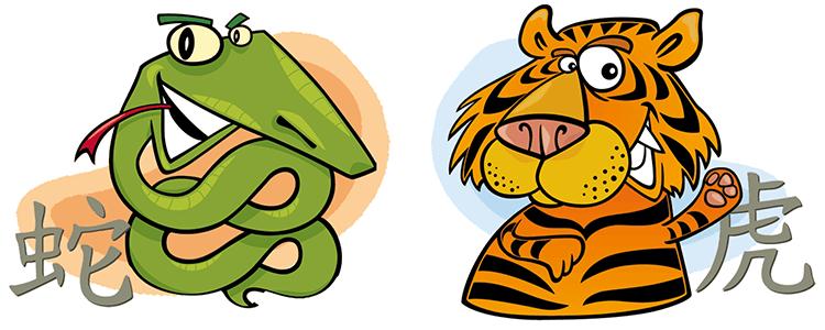 Schlange und Tiger Partner Horoskop