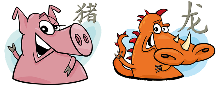Schwein und Drache Partner Horoskop