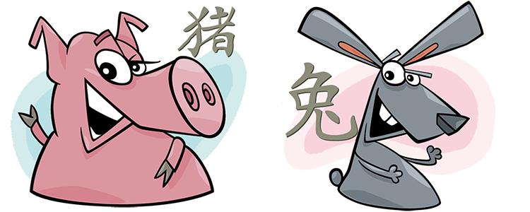 Schwein und Hase Partner Horoskop