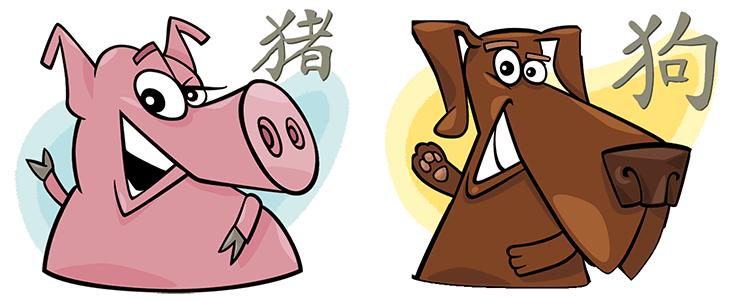 Schwein und Hund Partner Horoskop