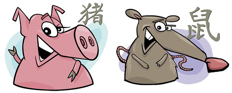 Schwein und Ratte Partner Horoskop