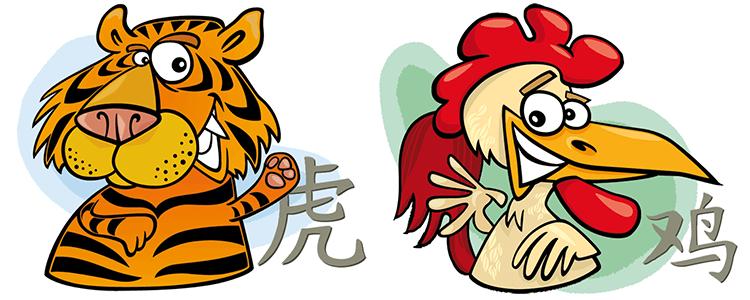 Tiger und Hahn Partner Horoskop