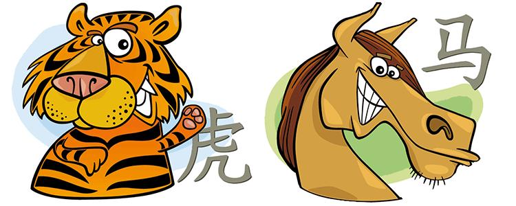 Tiger und Pferd Partner Horoskop