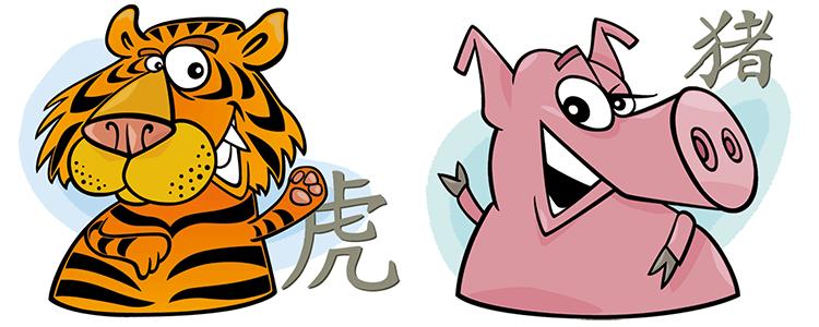 Tiger und Schwein Partner Horoskop