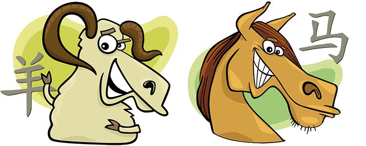 Ziege und Pferd Partner Horoskop