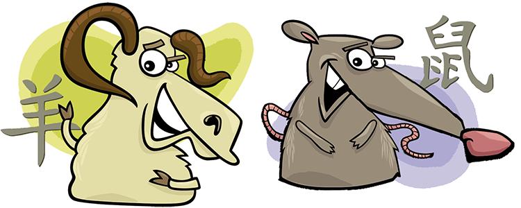 Ziege und Ratte Partner Horoskop