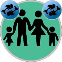 Fische-Kind und Fische-Elternteil