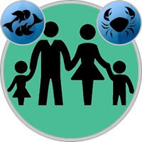 Krebs-Kind und Fische-Elternteil
