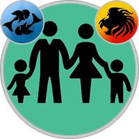 Löwe-Kind und Fische-Elternteil