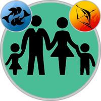 Schütze-Kind und Fische-Elternteil