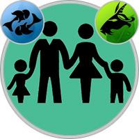 Steinbock-Kind und Fische-Elternteil