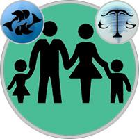 Waage-Kind und Fische-Elternteil