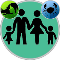 Krebs-Kind und Jungfrau-Elternteil