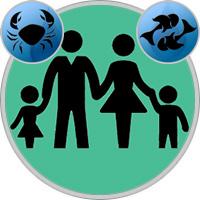 Fische-Kind und Krebs-Elternteil