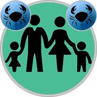 Krebs-Kind und Krebs-Elternteil
